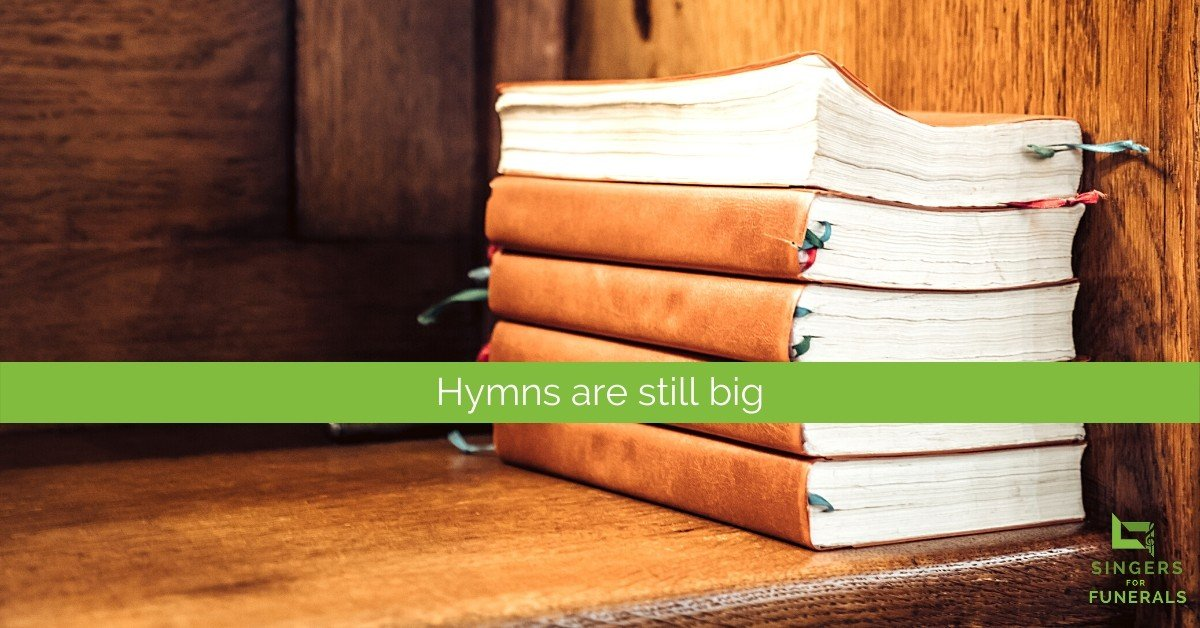 Hymn books for funeral singing