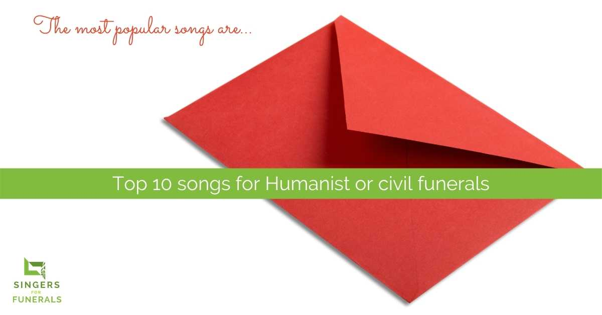 red envelope with text for top songs for non-religious funerals