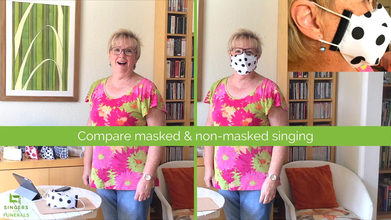 funeral singer in mask Toni Nunn