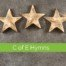 5 gold stars on grey wall. Top 5 anglican funeral hymns